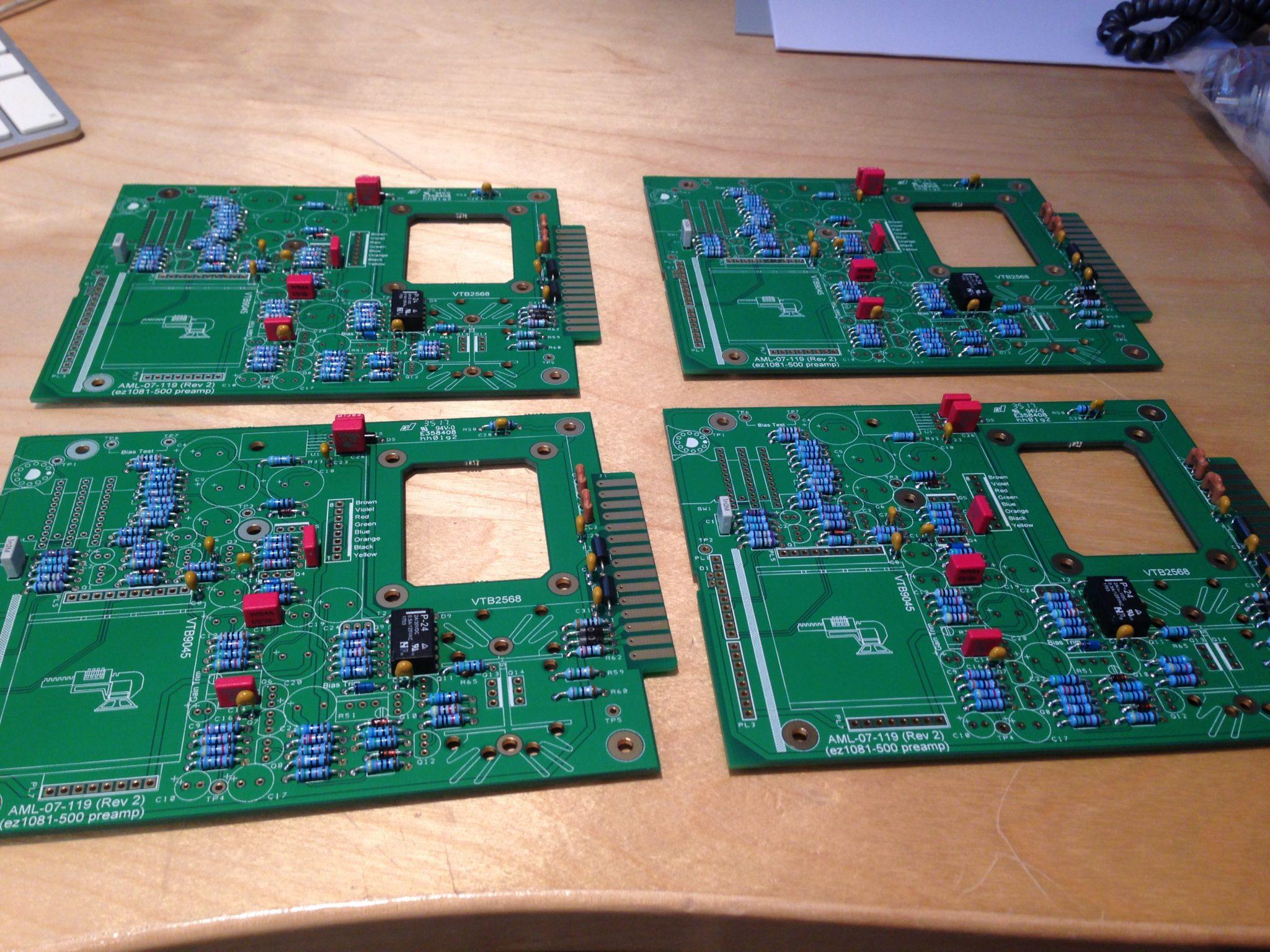 AML ez1081 Mic Pre - Capacitors & Relays