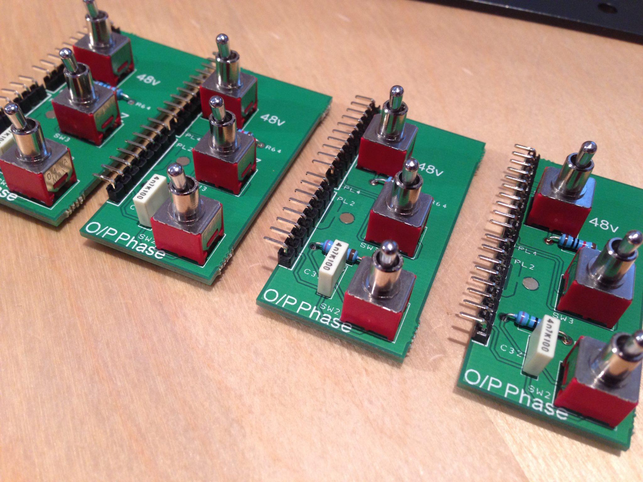 AML ez1081 Mic Pre - Sub PCB Switches