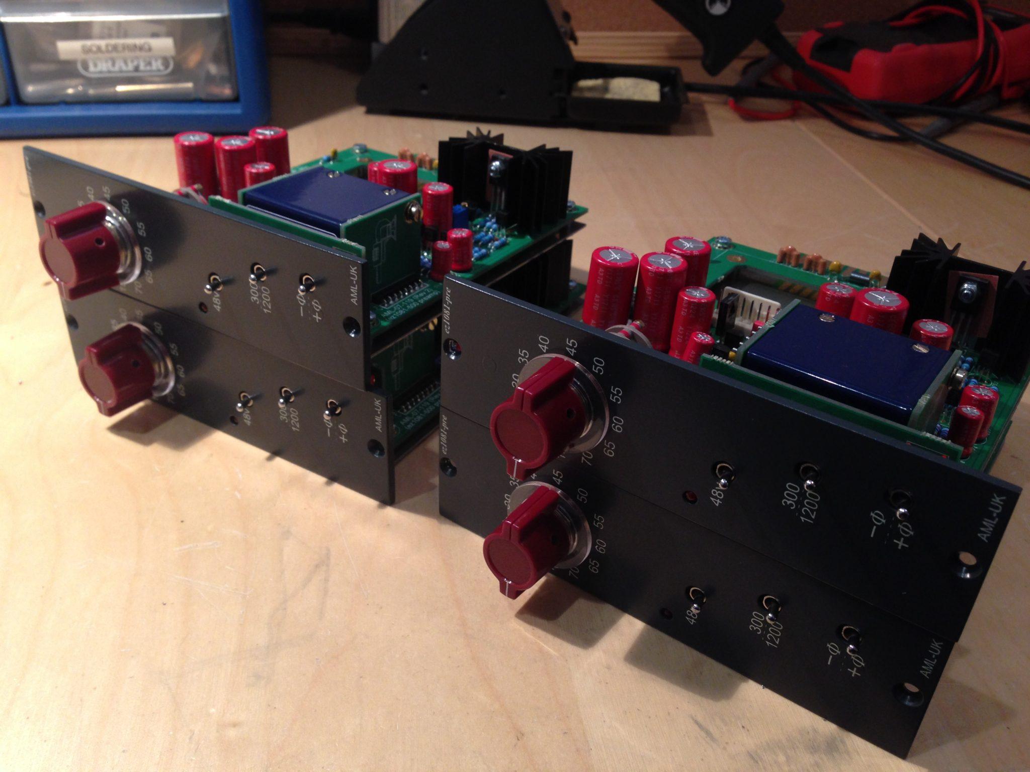 AML ez1081 Mic Pre - Input gain switches